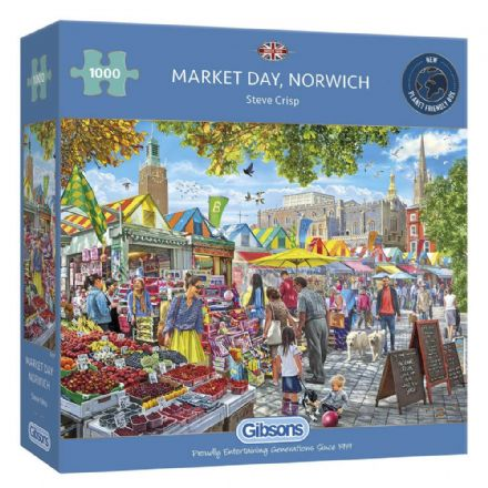 Market Day, Norwich by Steve Crisp 1000 Piece Gibsons Jigsaw